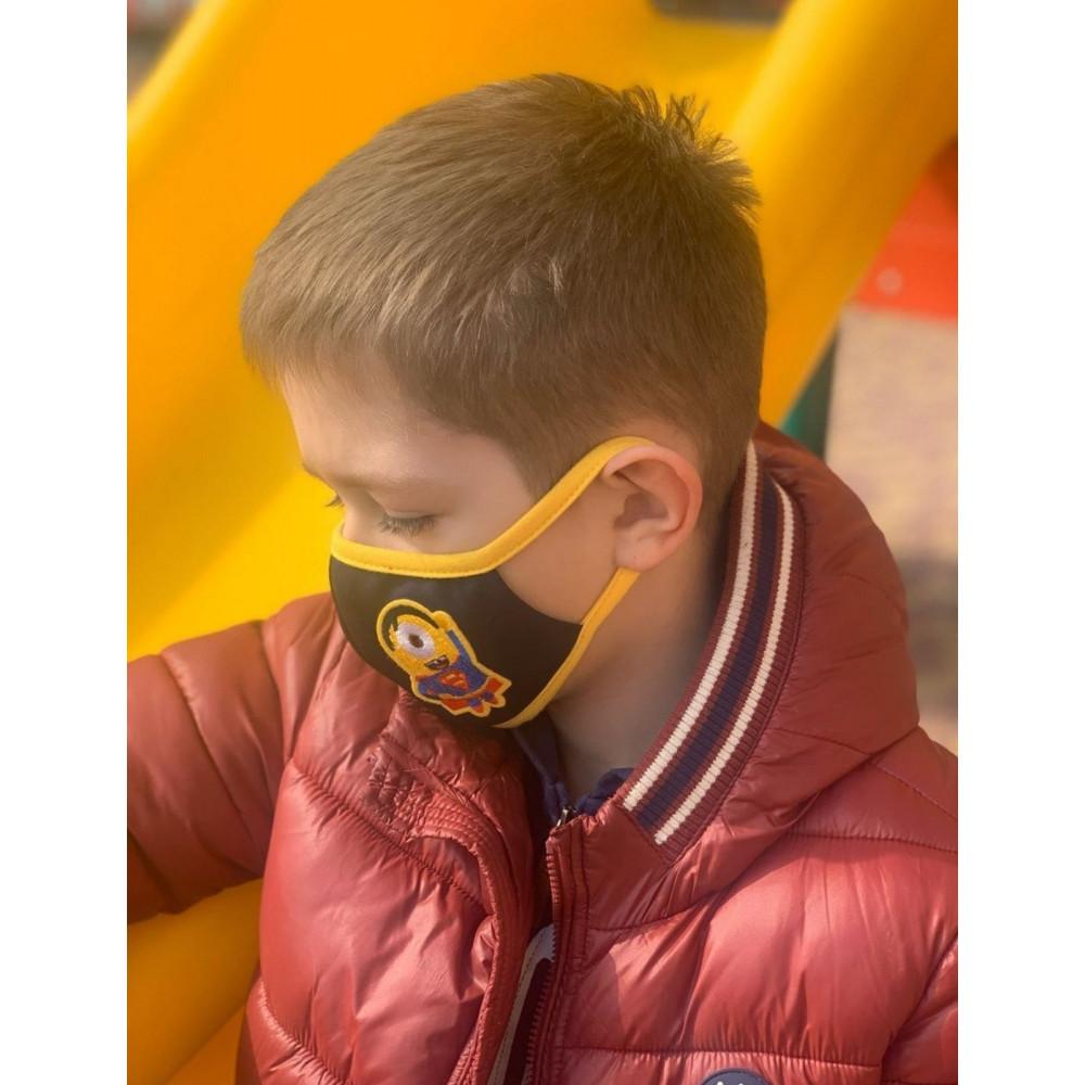 Маска для БДСМ - Маска защитная детская с принтом 2