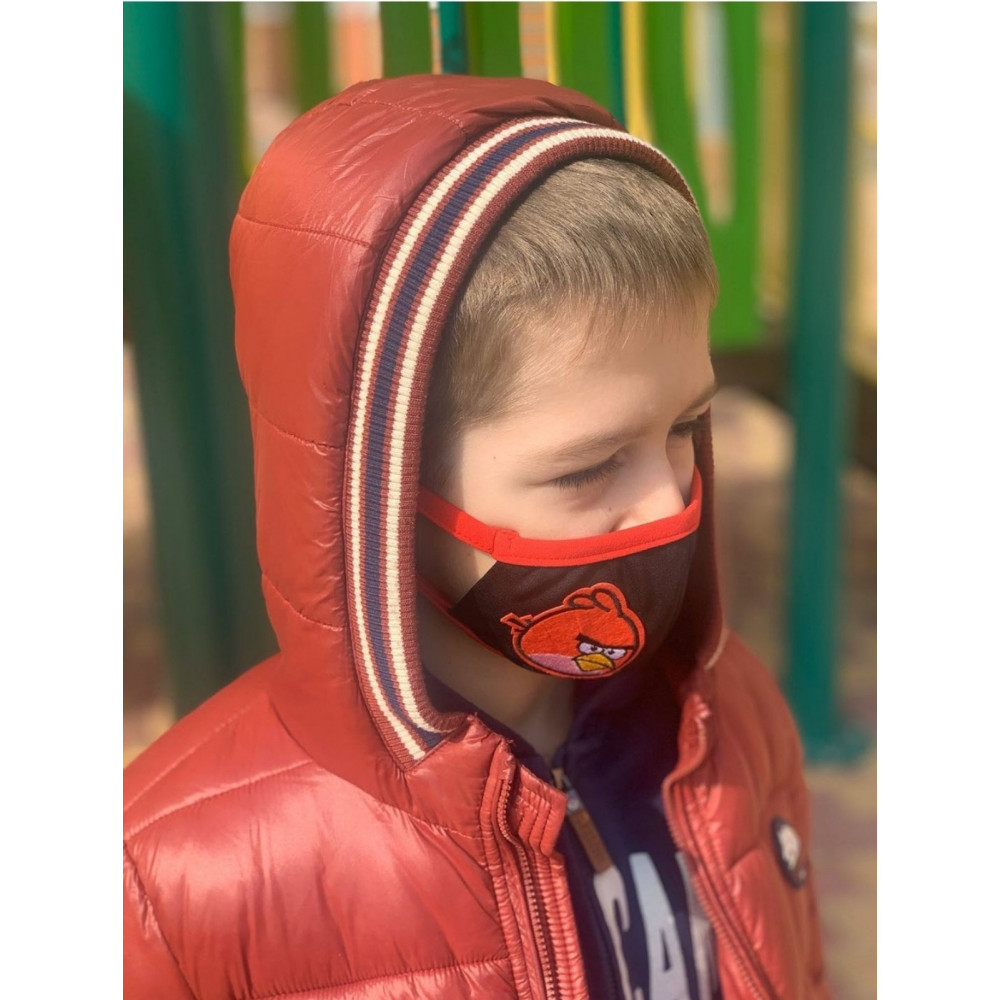 Маска для БДСМ - Маска защитная детская с принтом 4