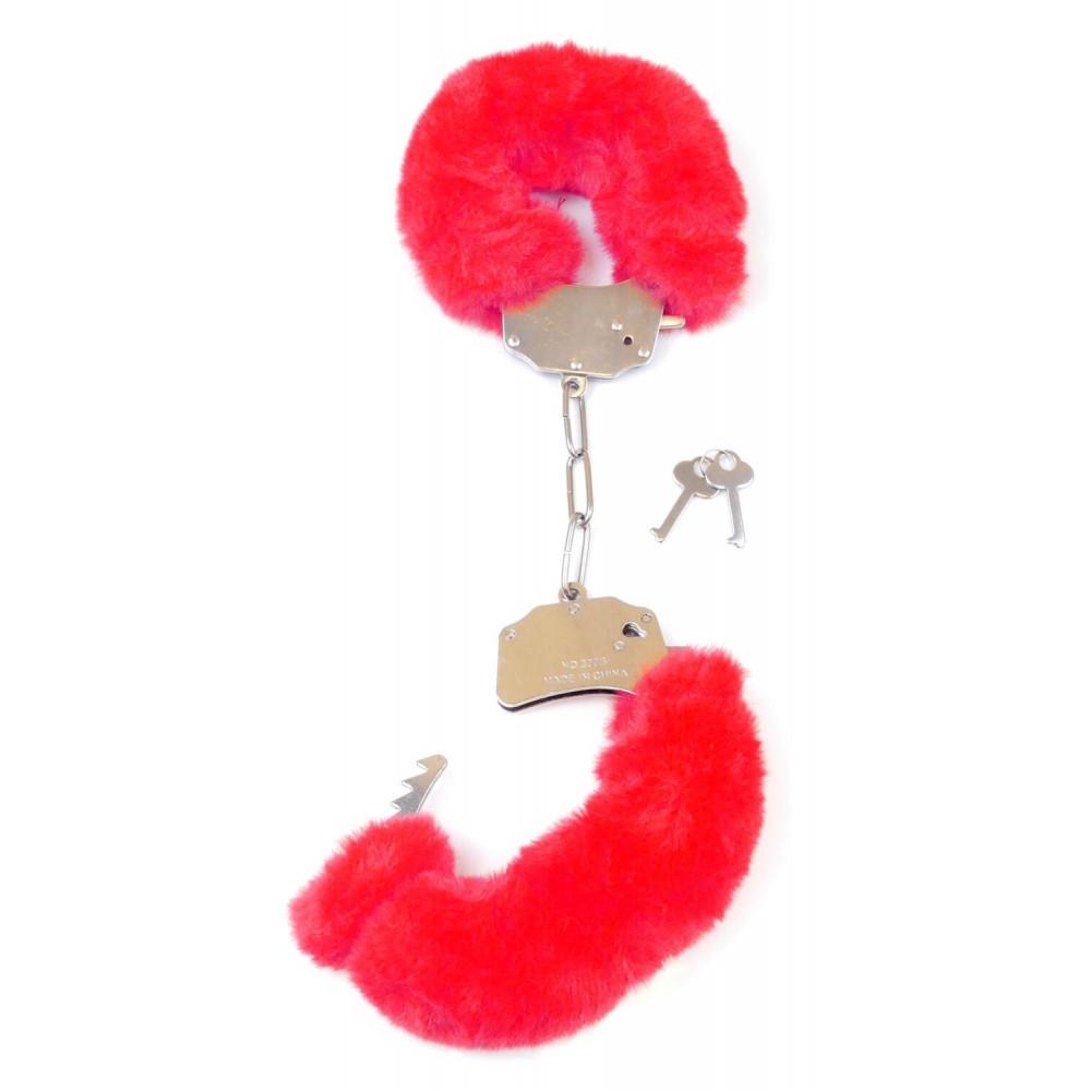 БДСМ наручники - Наручники SKN Handcuffs Red, BK30 Red 3