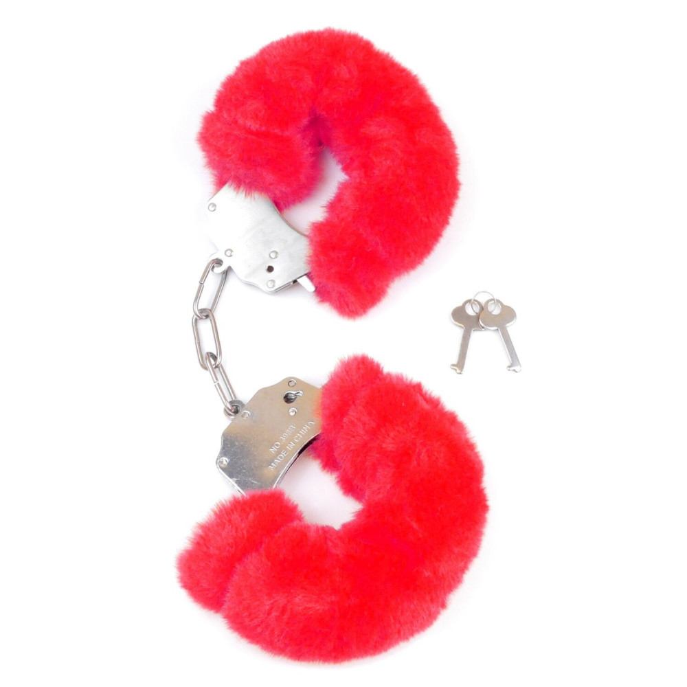 БДСМ наручники - Наручники SKN Handcuffs Red, BK30 Red