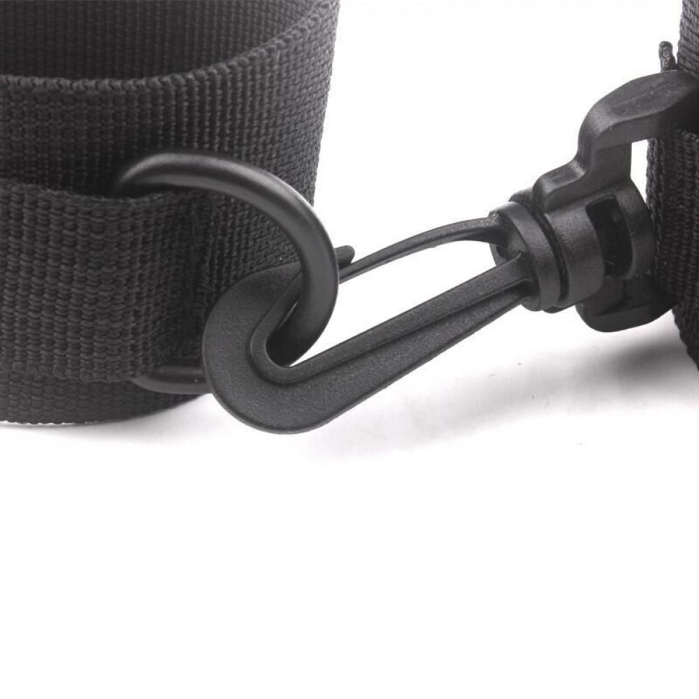 БДСМ наручники - Наручники-манжеты на липучке SKN-C023, BLACK 2
