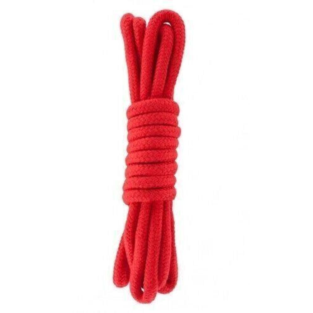 БДСМ аксессуары - Веревка для бондажа BONDAGE ROPE 10M RED ( 10 метров )