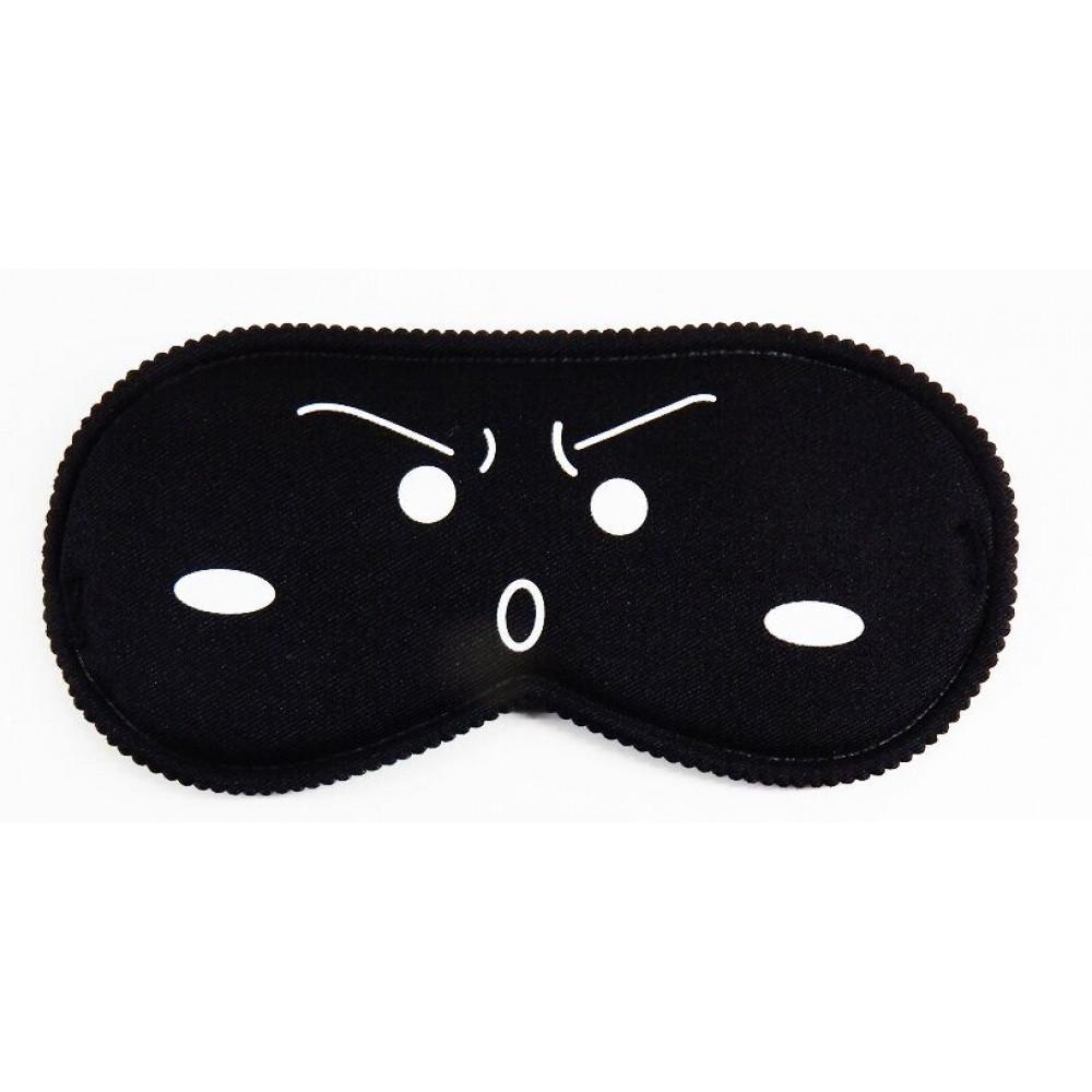 Маска для БДСМ - Закрытая маска на глаза Smile BLACK, SKN-C070 2