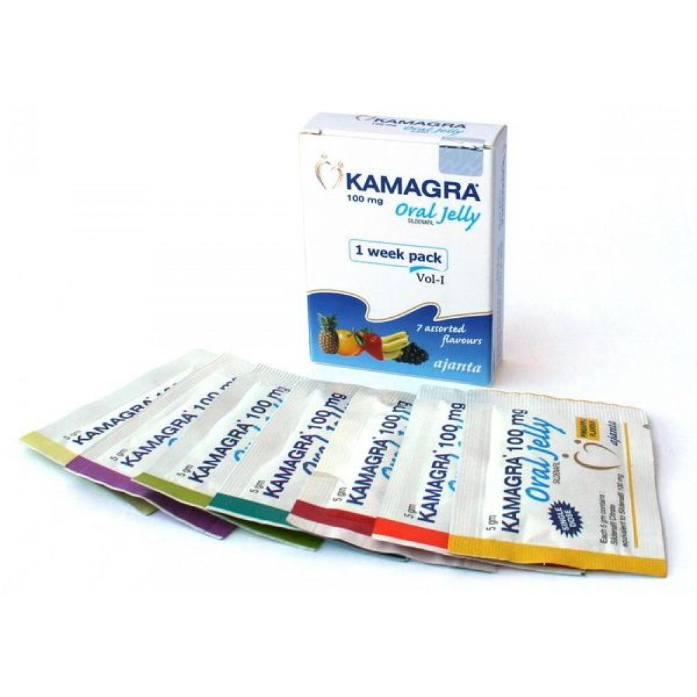 Мужские возбудители - Kamagra oral jelly ( 7 пакетиков в уп )