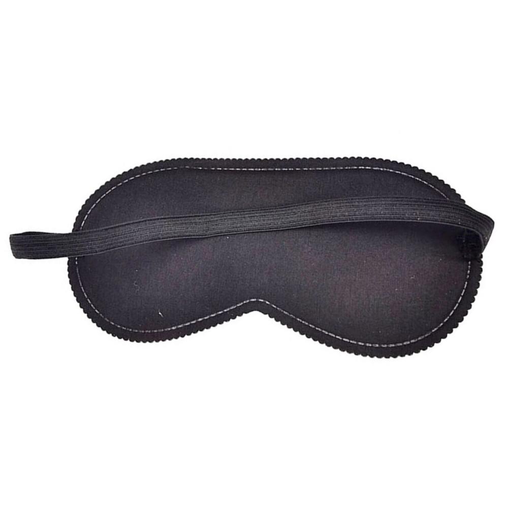 Маска для БДСМ - Закрытая маска на глаза Smile BLACK, SKN-C073 3