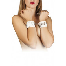 Наручники Leather Dominant Hand Cuffs,white
