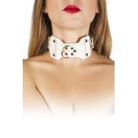 Ошейник VIP Leather Collar, white