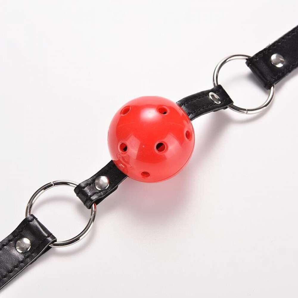 Кляп - Кляп шар Plastic RED, SKN-KK01 2