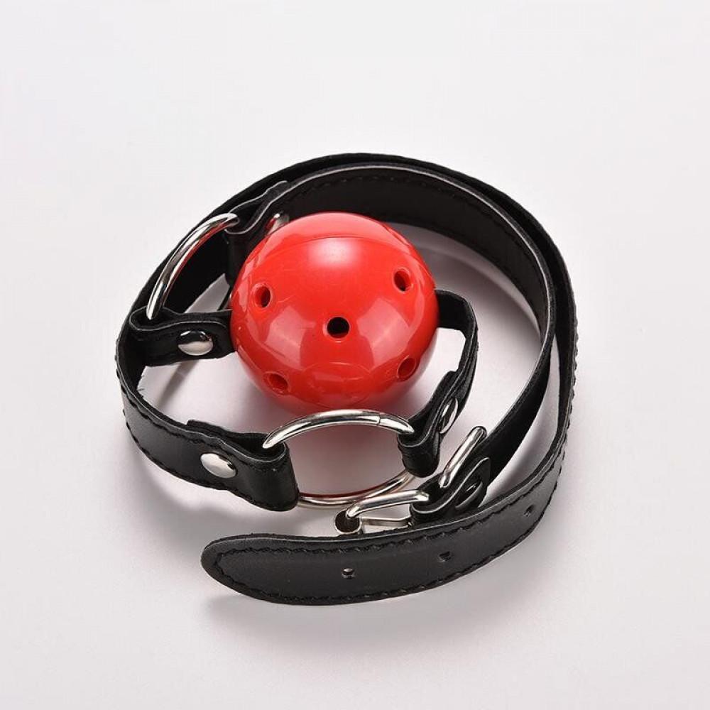 Кляп - Кляп шар Plastic RED, SKN-KK01 3