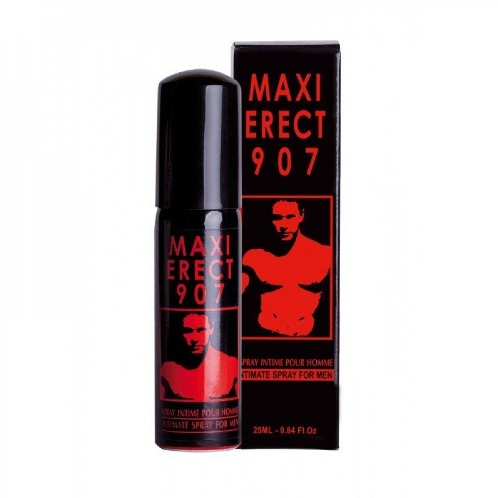 Стимулирующие средства и пролонгаторы - Возбуждающий спрей MAXI ERECT 907, 25 ml