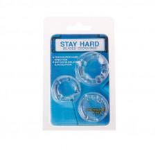 """Набор колец """" Stay hard """" CN-330300012 Clear"""