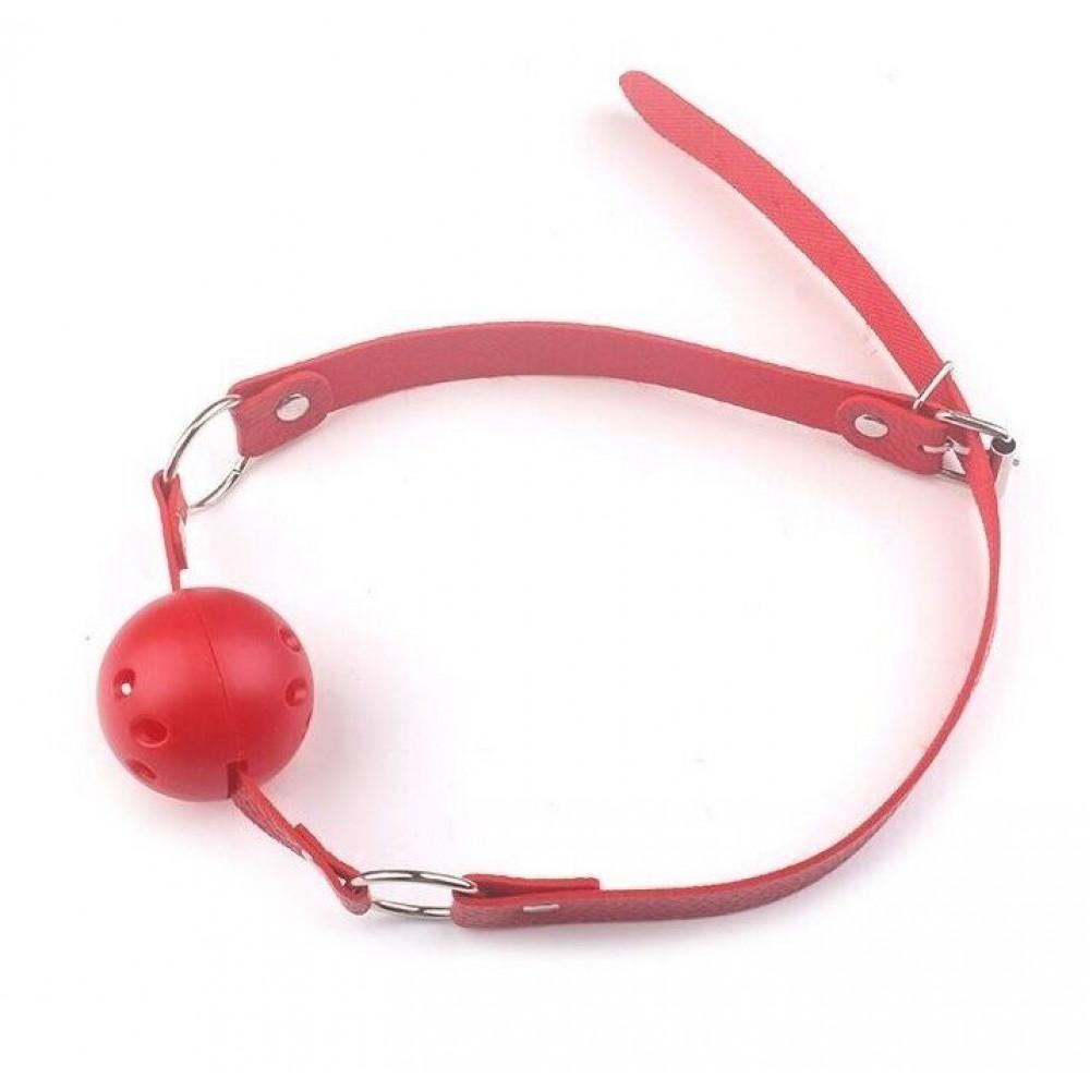 Кляп - Кляп шар Classic plastic Red, SKN-KK07