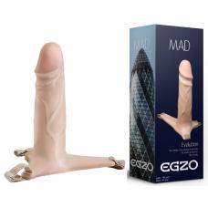 Фаллопротез поясной EGZO MAD FH03 ( 18,5 см х 4,5 см )