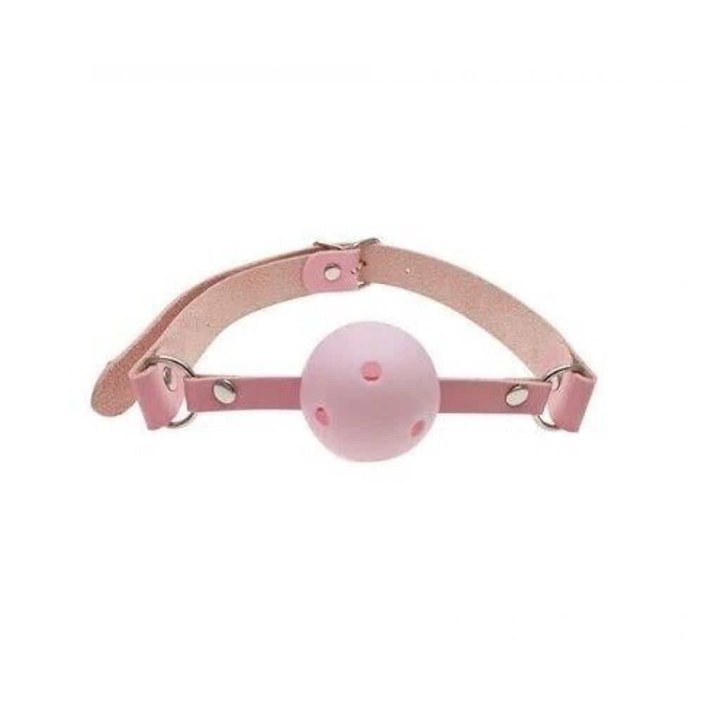 Кляп - Кляп шар Classic plastic Pink, SKN-KK08