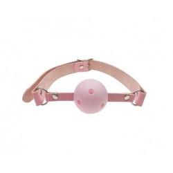 Кляп шар Classic plastic Pink, SKN-KK08