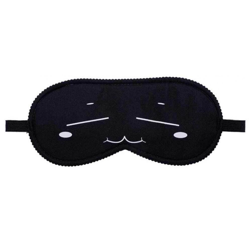 Маска для БДСМ - Закрытая маска на глаза Smile BLACK, SKN-C071 2