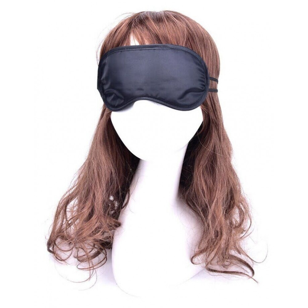 Маска для БДСМ - Закрытая маска на глаза SKN-C065,  BLACK