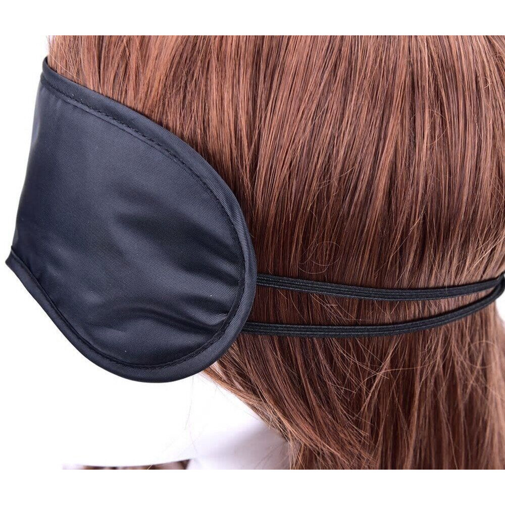Маска для БДСМ - Закрытая маска на глаза SKN-C065,  BLACK 2