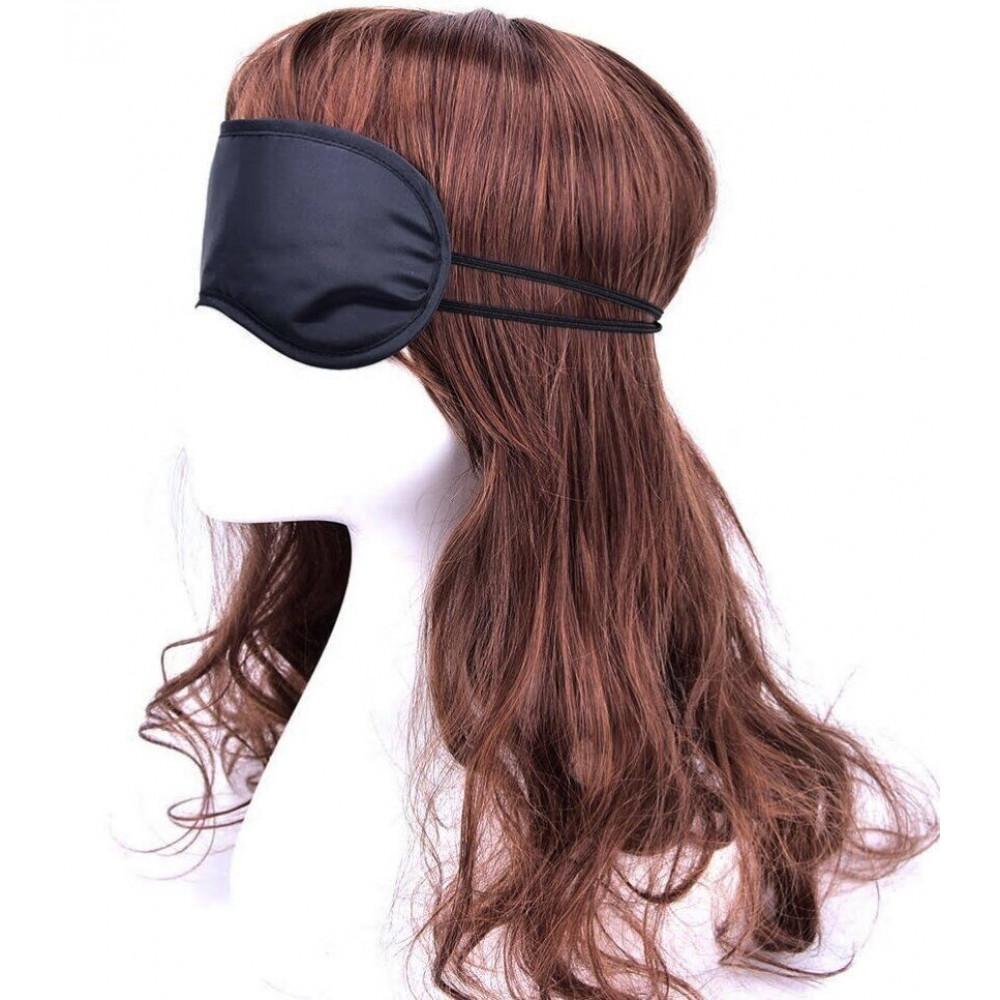 Маска для БДСМ - Закрытая маска на глаза SKN-C065,  BLACK 3