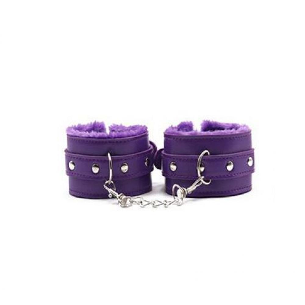 БДСМ наручники - Оковы с мехом SKN-C051, PURPL 2