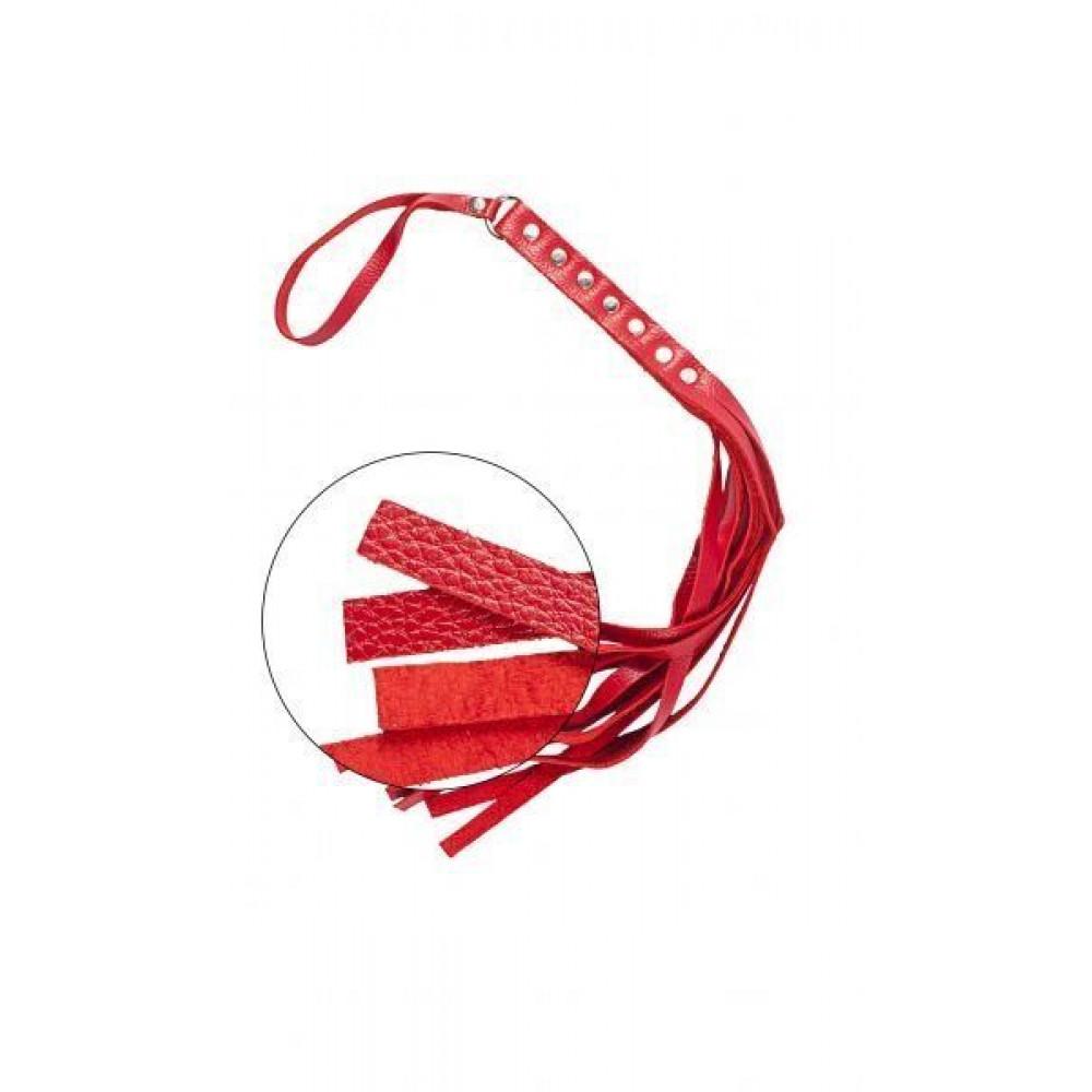 БДСМ плети, шлепалки, метелочки - Флогер S&M Fancy Leather Floger Red