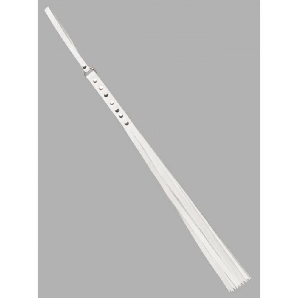 БДСМ плети, шлепалки, метелочки - Флогер S&M Fancy Leather Floger White, SL280122 2