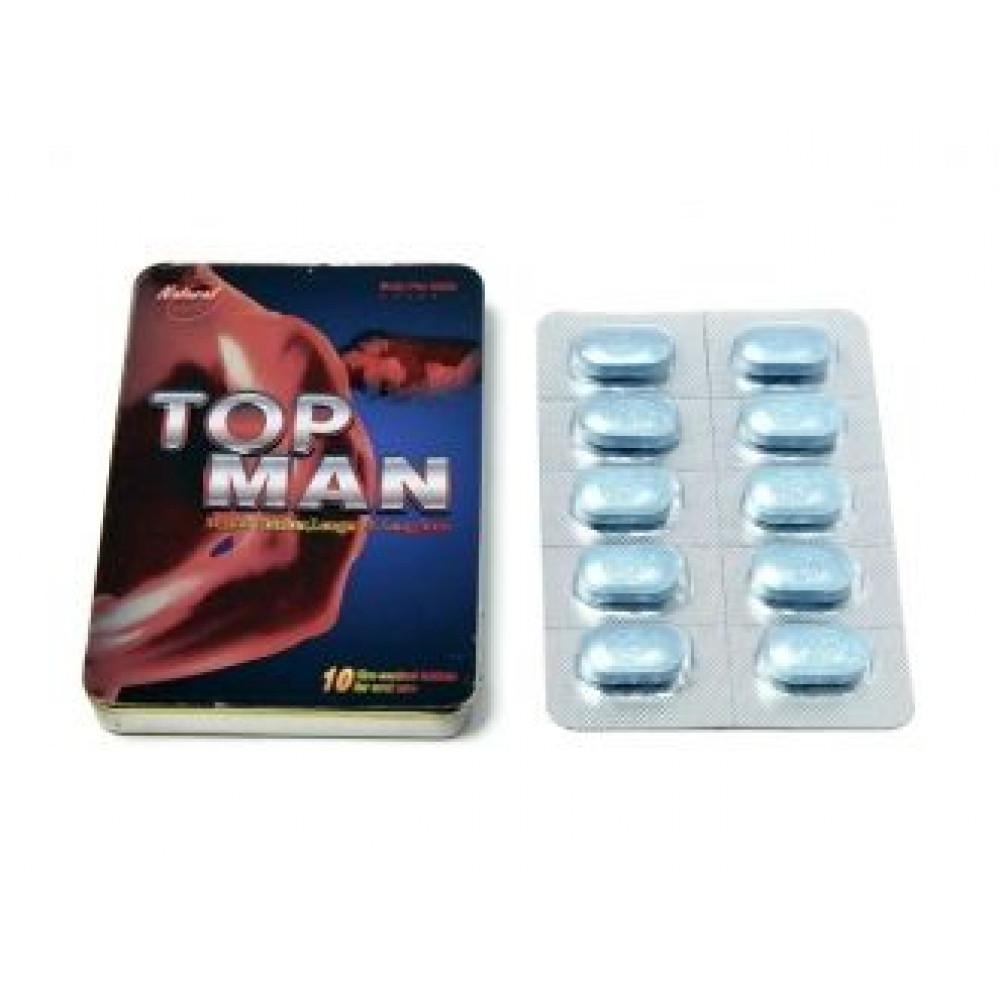 Мужские возбудители - Таблетки возбуждающие TOP MAN (совместимы с алкоголем )
