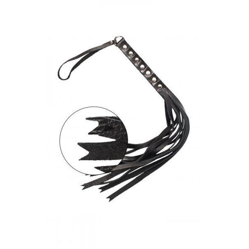 БДСМ плети, шлепалки, метелочки - Флогер S&M Fancy Leather Floger Black, SL280112 2