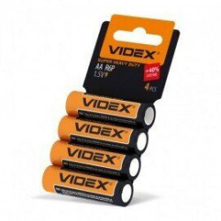 Батарейка солевая Videx Super Heavy Duty R6P AA ( 4 шт )