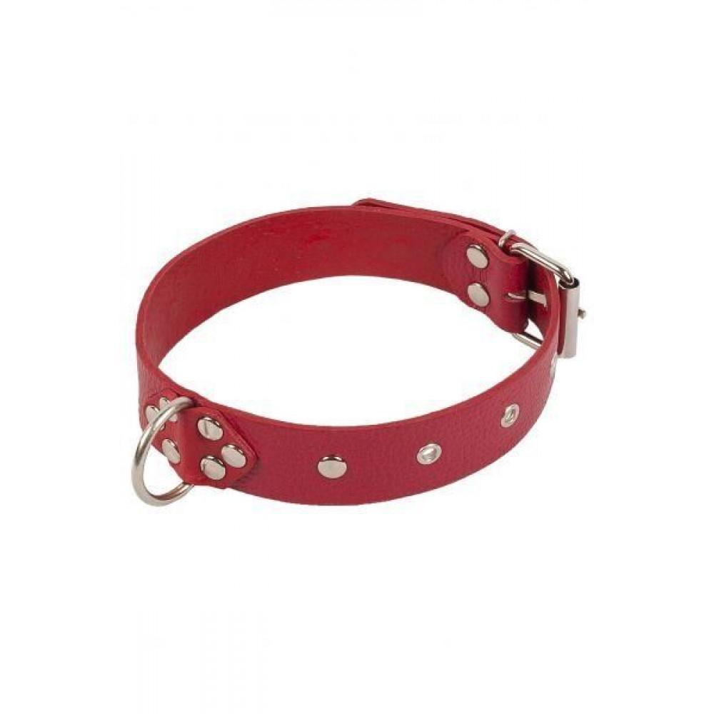 БДСМ ошейники - Ошейник Dominant Collar, red 3