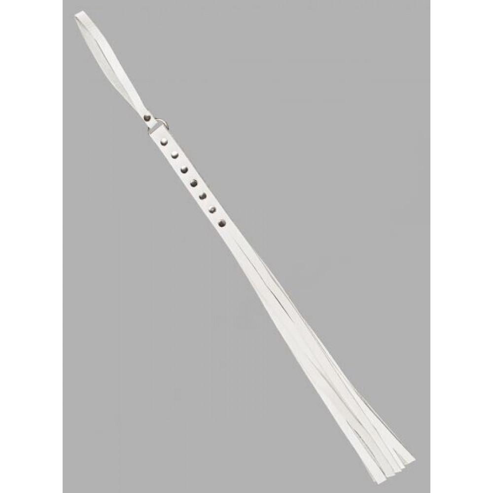 БДСМ плети, шлепалки, метелочки - Флогер S&M Fancy Leather Floger White, SL280120 2