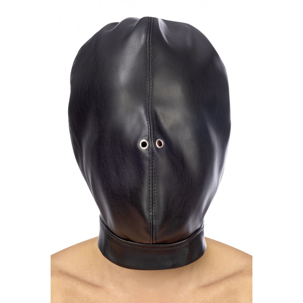 Маска для БДСМ - Капюшон для БДСМ Fetish Tentation Closed BDSM hood in leatherette