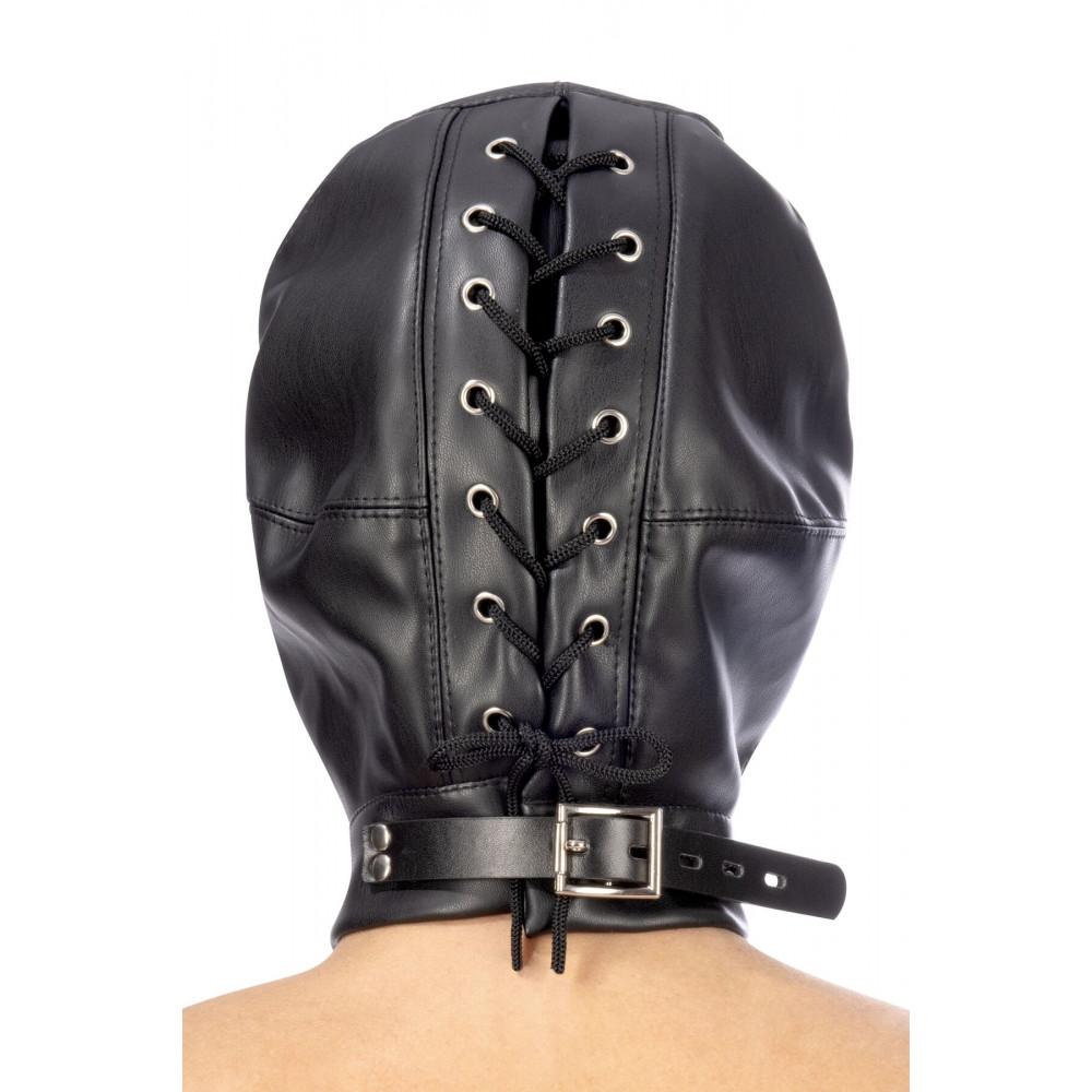 Маска для БДСМ - Капюшон для БДСМ Fetish Tentation Closed BDSM hood in leatherette 1