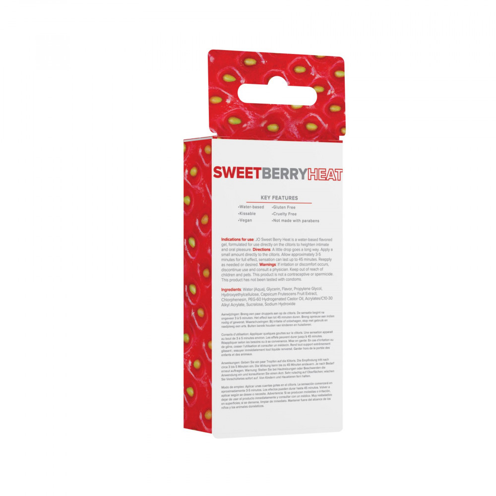 Жидкий вибратор - Гель для клитора System JO Stimulant - Sweet Berry Heat со вкусом клубники (10 мл) 1