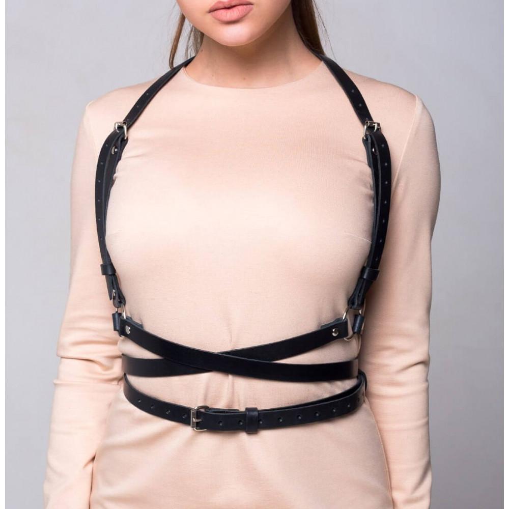 Одежда для БДСМ - Портупея Feral Fillings - Harness черная