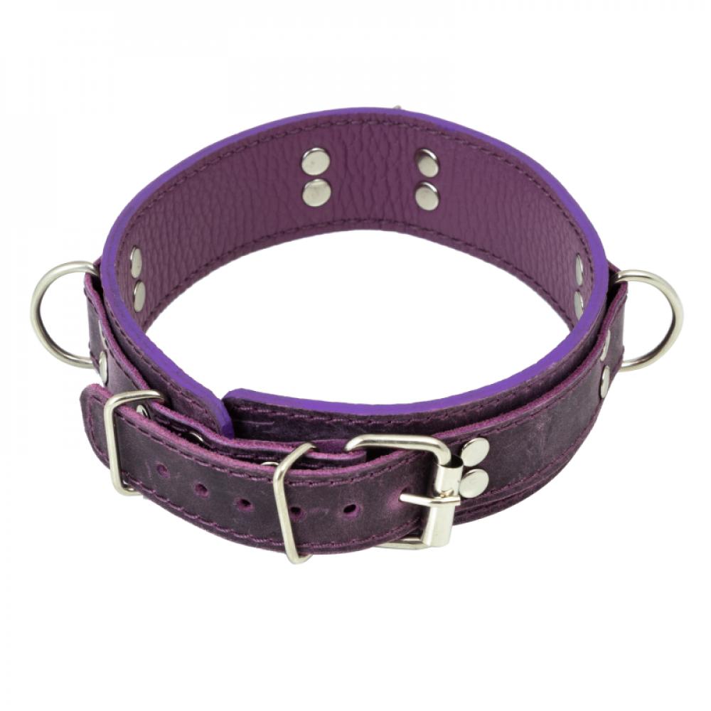 БДСМ ошейники - Ошейник LOVECRAFT размер M фиолетовый 1