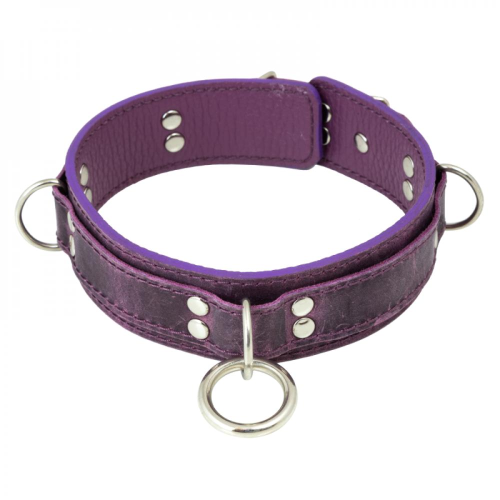 БДСМ ошейники - Ошейник LOVECRAFT размер M фиолетовый