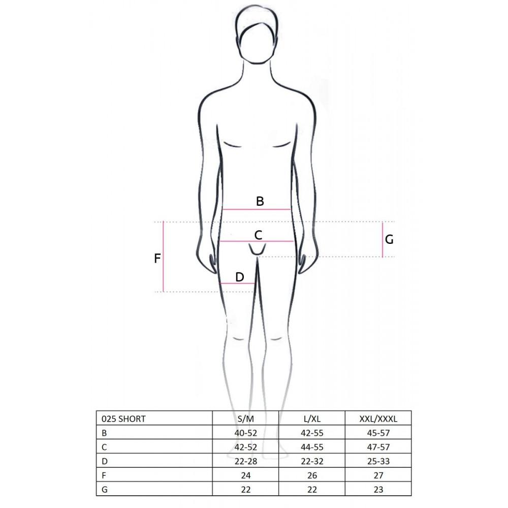 Стринги, трусы и шорты - 025 SHORT black L/XL - Passion 2