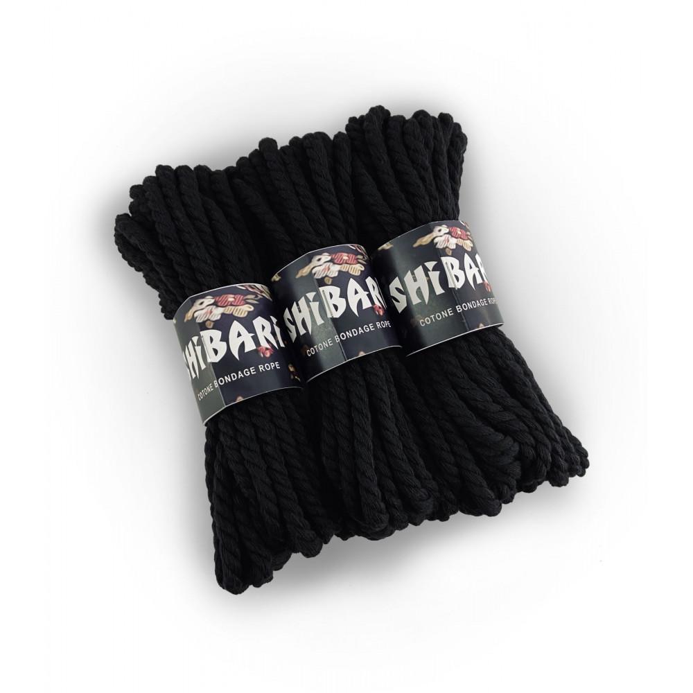 БДСМ наручники - Хлопковая веревка для Шибари Feral Feelings Shibari Rope, 8 м черная 1
