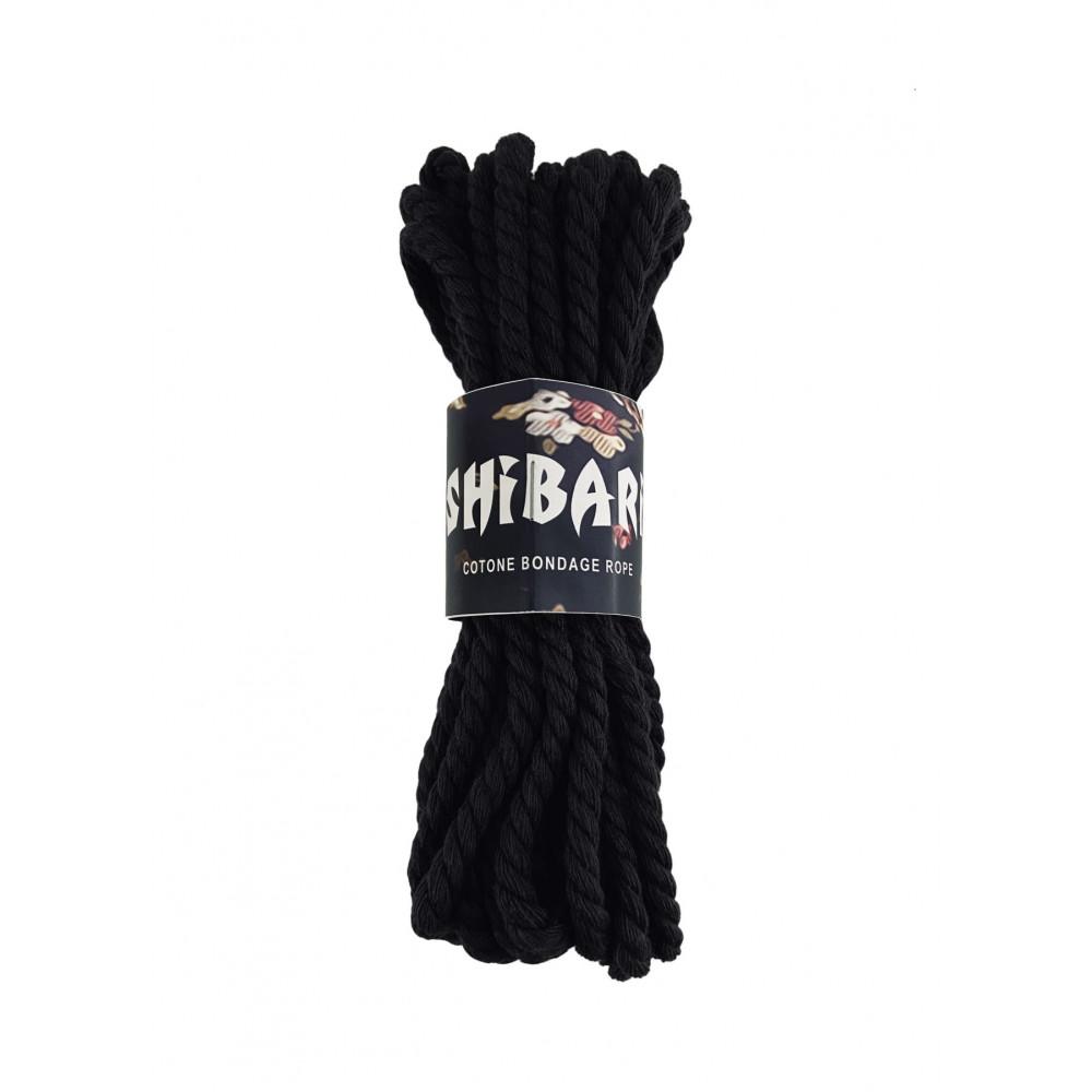 БДСМ наручники - Хлопковая веревка для Шибари Feral Feelings Shibari Rope, 8 м черная