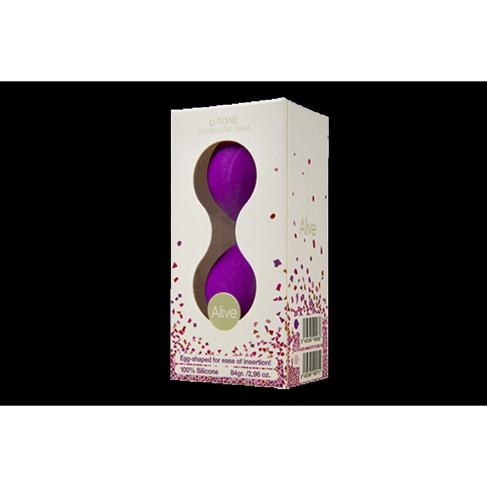 Вагинальные шарики - Вагинальные шарики Alive U-Tone Balls Purple 1