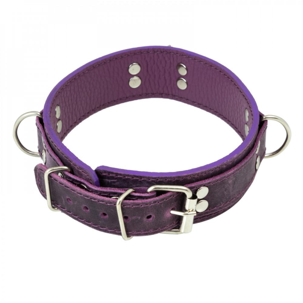 БДСМ ошейники - Ошейник LOVECRAFT размер S фиолетовый 1