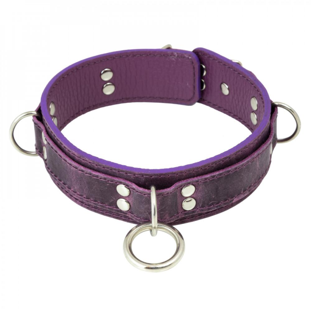 БДСМ ошейники - Ошейник LOVECRAFT размер S фиолетовый