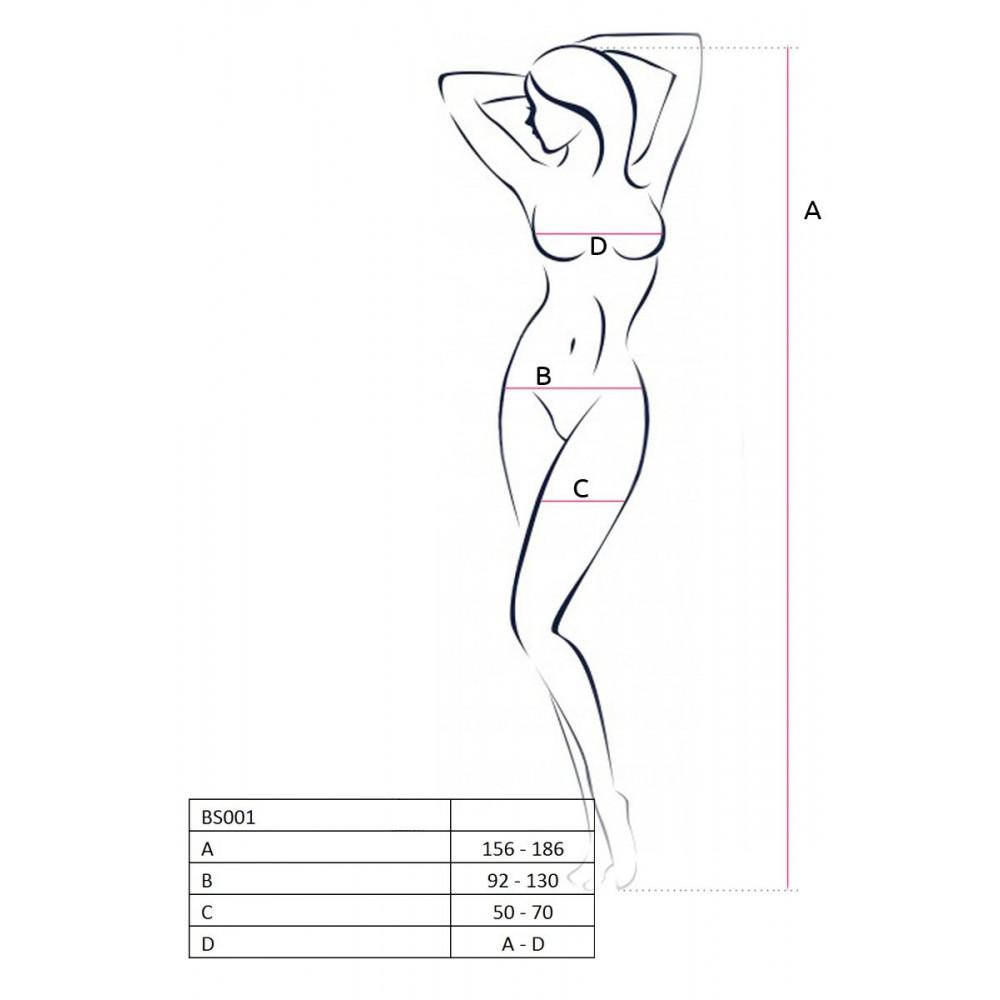 Бодистокинг - Ажурный чулок на тело со шнуровкой, черный 1