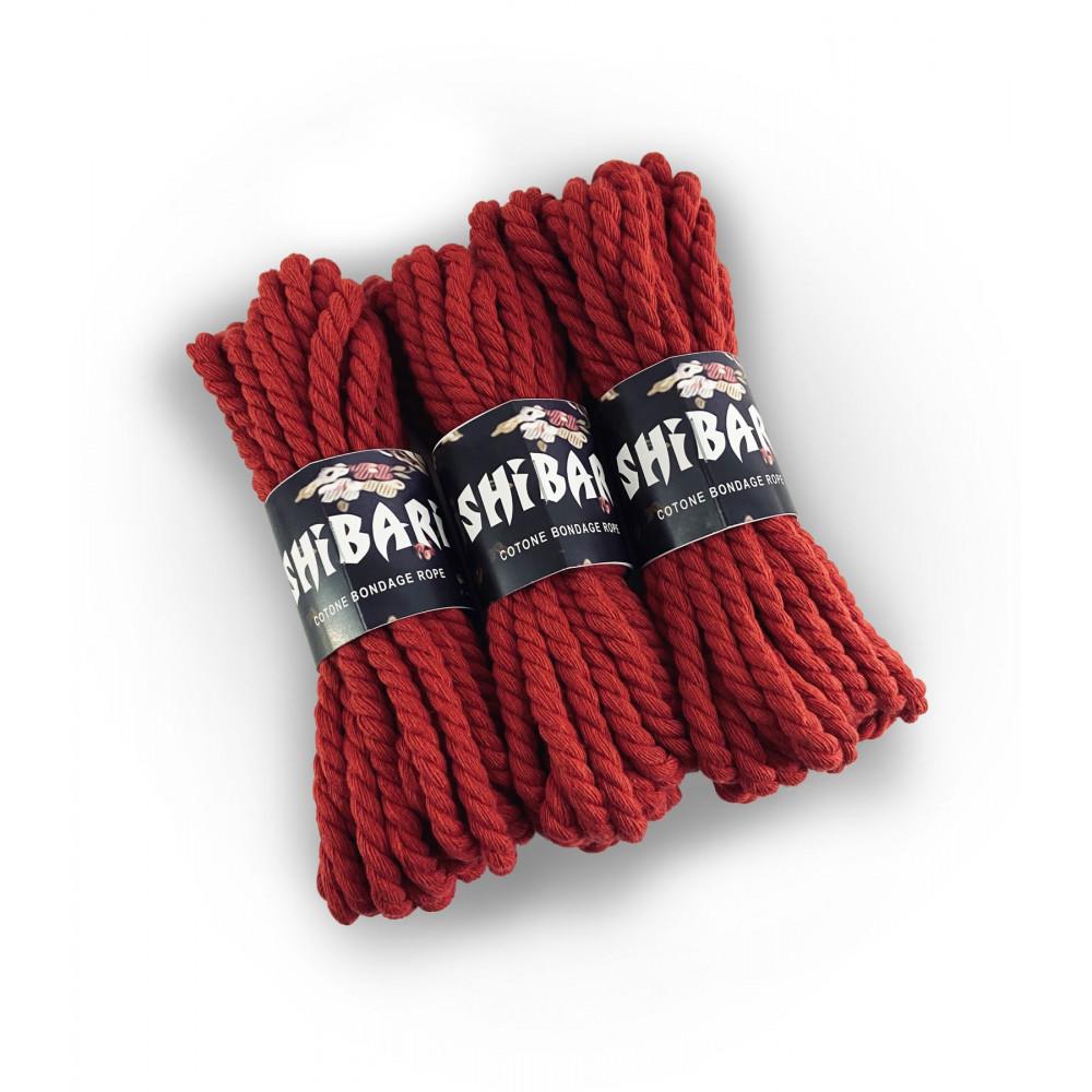 БДСМ наручники - Хлопковая веревка для Шибари Feral Feelings Shibari Rope, 8 м красная 1