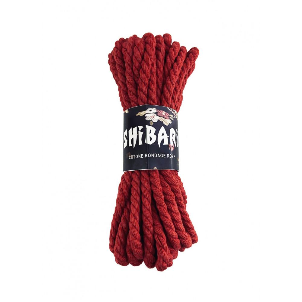 БДСМ наручники - Хлопковая веревка для Шибари Feral Feelings Shibari Rope, 8 м красная