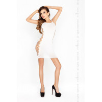 Мини платье сетка, белый