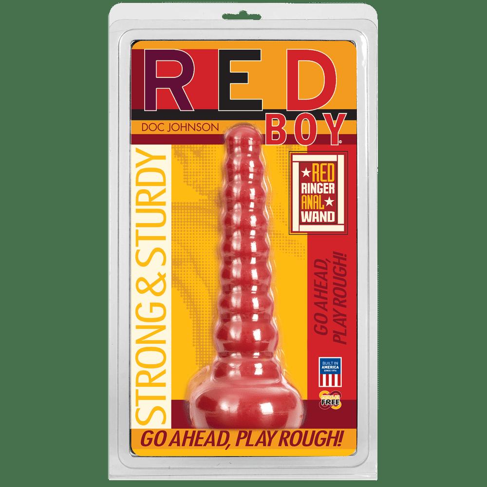 Анальная пробка - Анальная пробка Doc Johnson Red Boy - Red Ringer Anal Wand 1