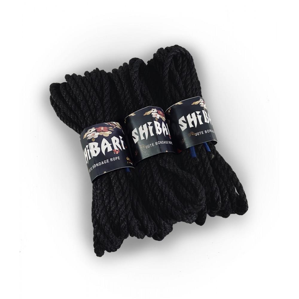 БДСМ наручники - Джутовая веревка для Шибари Feral Feelings Shibari Rope, 8 м черная 1