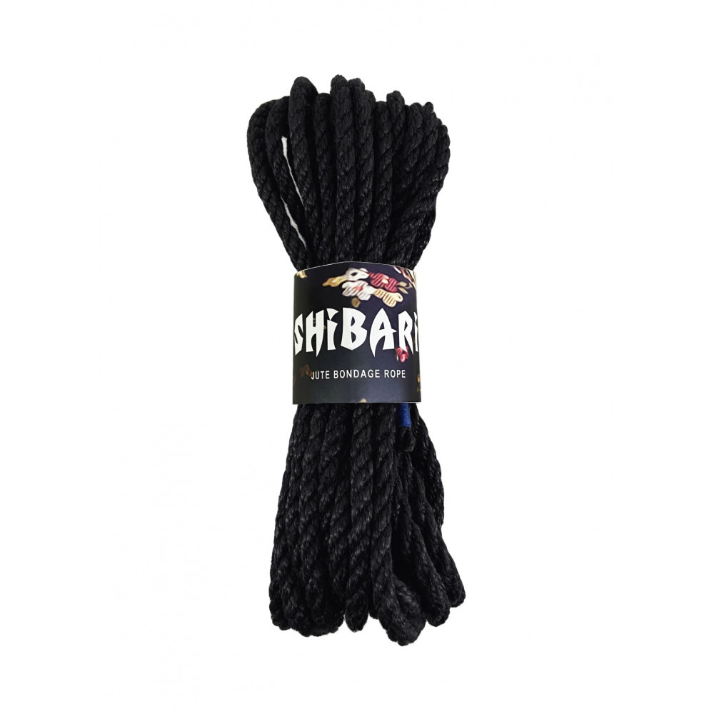 БДСМ наручники - Джутовая веревка для Шибари Feral Feelings Shibari Rope, 8 м черная